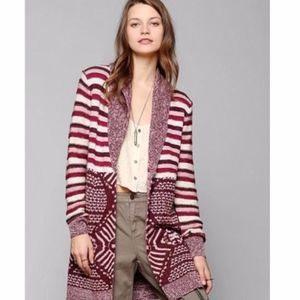 {Urban Outfitters} Ecote Intarsia Open Cardigan